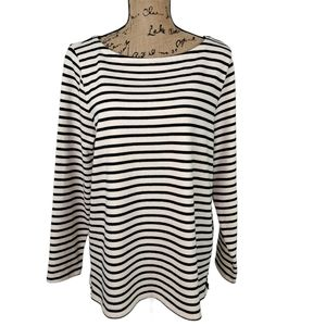 Eileen Fisher Striped Top Organic Cotton Size LP